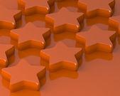 Chocolade sterren — Stockfoto