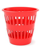 Red trash can — Stock Photo