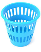 Blue trash can — Stock Photo