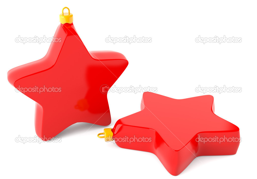 Christmas stars isolated on white background — Stock Photo #5635730