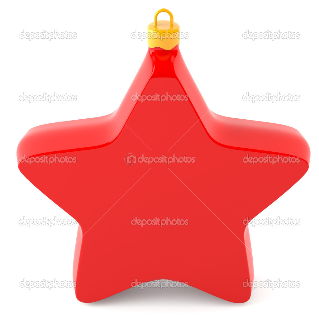 Christmas star isolated on white background — Stock Photo #5635741