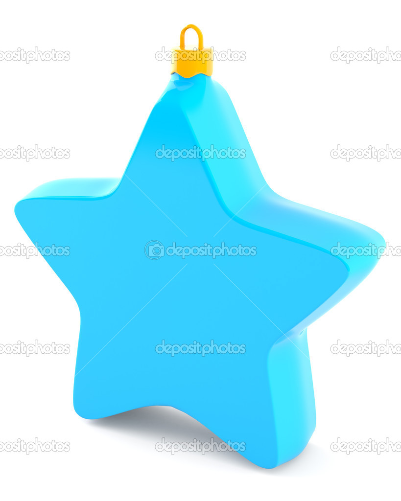 Christmas star isolated on white background — Stock Photo #5635755