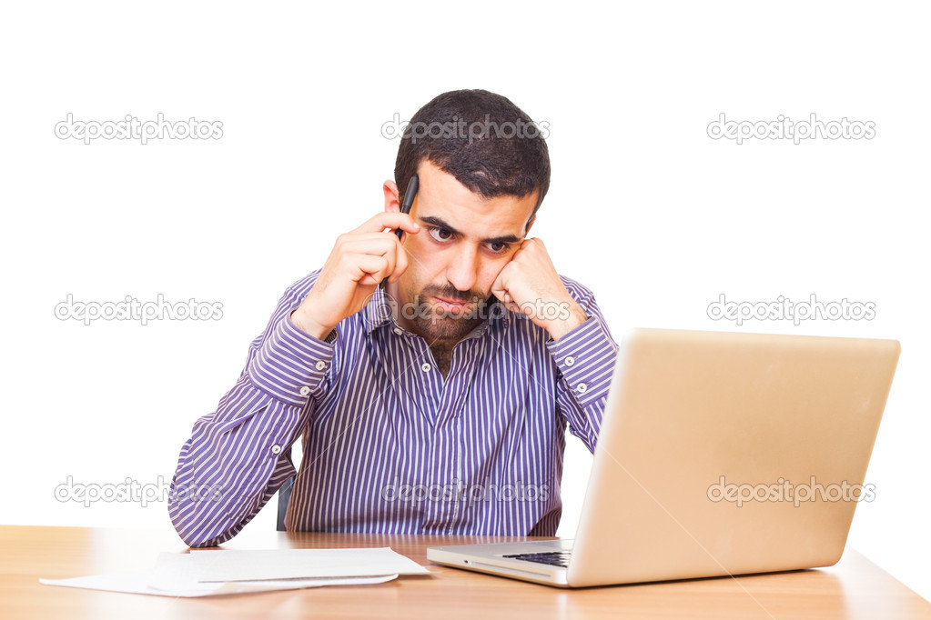 Young Man at Work in Office — Stock Photo #5475866