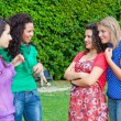 Group of Teenage Girls at Park — Stock Photo