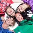 Teenage Female Friends in Circle, Bottom View — Stock Photo