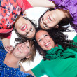 Teenage Female Friends in Circle, Bottom View — Stock Photo #5739551