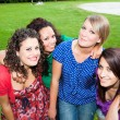 Group of Teenage Girls at Park - Stock Photo