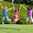 Royalty-Free Stock Photo: Happy Teenage Female Friends Jumping