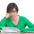 Tired Young Woman at Work — Stock Photo #6010060