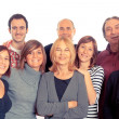 Caucasian Family, Group of - Stock Photo