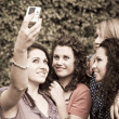 Female Teenagers Taking Self Portrait — Stockfoto #6067622