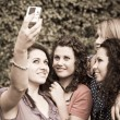 Stockfoto: Female Teenagers Taking Self Portrait