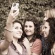 Female Teenagers Taking Self Portrait — Stock Photo