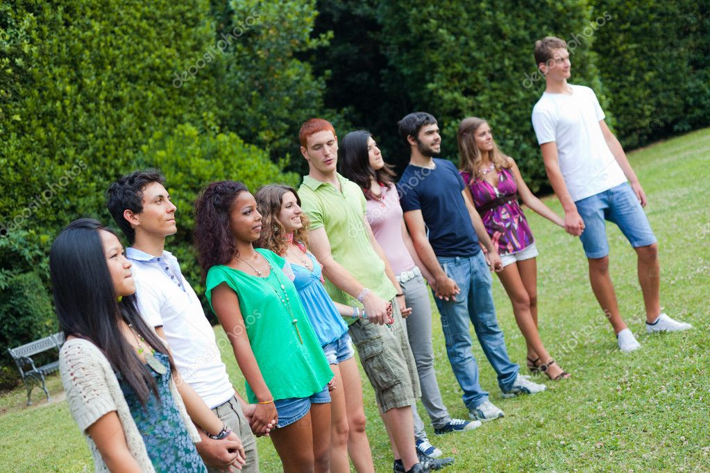 Group of Teenagers at Park — Stock Photo #6066967