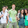 Royalty-Free Stock Photo: Multicultural Group of College Students