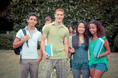Multicultural Group of College Students — Stock Photo