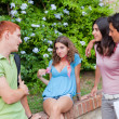 Stock Photo: Teenagers Talking at Park