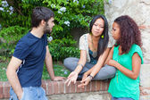 Teenagers Talking at Park — Stock Photo