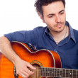 Young Man Playing Guitar — Stock Photo