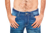 Young Man wearing Jeans, Close Up — Stock Photo