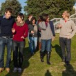 College Students at Park - Stock Photo