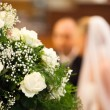 Selective Focus View of Bride and Groom - 图库照片
