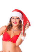 Sexy Woman with Santa Hat — Stock Photo