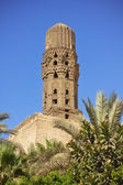 Minaret of ancient mosque — Stock Photo