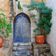 Greek Courtyard — Stock Photo