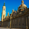 basilica in zaragoza — Stock Photo