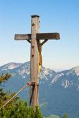 Gold crucifix — Stock Photo