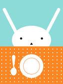 昼食の時間 — ストックベクタ