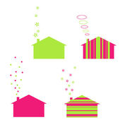Ecology houses — Stock Vector