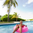 Little Girl in pool — Foto de Stock