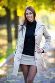 Donna giovane sorridente — Foto Stock