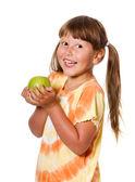 Apple espera chica — Foto de Stock