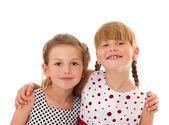 Szczęśliwy Siostrzyczki — Zdjęcie stockowe