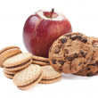 Cookies and Apple — Stock Photo