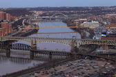 Bridges in Pittsburgh — Stock Photo