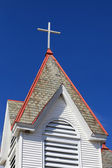 Roof of rural church — Stock Photo