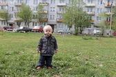 Little boy outdoor — Stock Photo