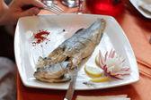 Steamed dorado fish — Stock Photo