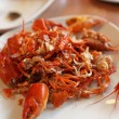 Boiled crayfishs — Stock Photo