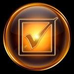 Check icon golden. — Stock Photo #5939204