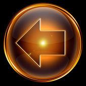 Arrow left icon golden. — Stock Photo