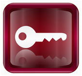 Key icon dark red, isolated on white background — Stock Photo