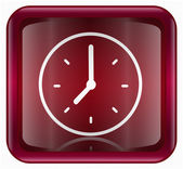 Clock icon red — Stockfoto