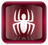 Virus icon red, isolated on background — 图库照片