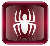 病毒图标红色,孤立在背景上 — 图库照片