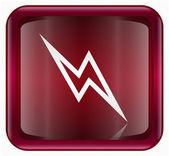 Lightning icon red — Stock Photo